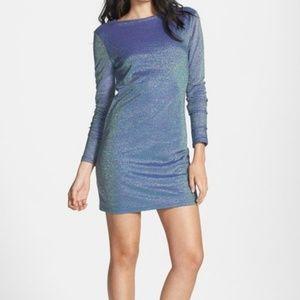 Tildon L/S Metallic Iridescent Bodycon Dress L